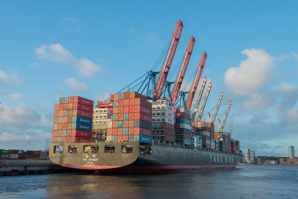 container ship, frachtschiff, freighter